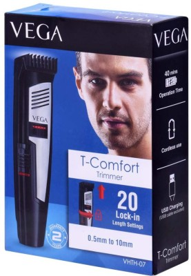 Vega T-Comfort VHTH-07 Trimmer For Men (Black, Red)