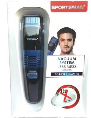 sportsman Vacuum system beard SM-625 Trimmer For Men (Multicolour)