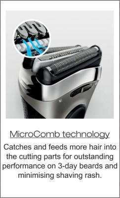 Braun Electric Wet & Dry Foil 3080 Shaver For Men (Black, Blue)