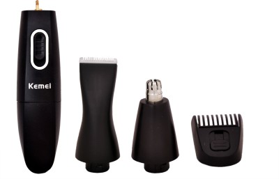 Kemei Professional KM-3303 Ear, Nose & Eyebrow trimmer For Men, Women (BLACK)