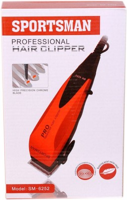 Sportsman Professional Hair Clipper SM-6252 Trimmer For Men (Multicolour)