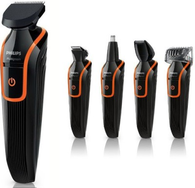 Philips Multigroom 7 in 1 Multi Grooming Kit QG 3340 Trimmer For Men (Black, Orange)