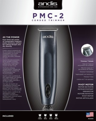 Andis Super Slim 5-Piece Powerful Pivotal Motor Grooming Kit PMC2 Trimmer (Dark Grey)