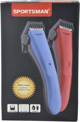 Sportsman Professional Rechargeable Clipper SM-628 Trimmer, Body Groomer For Men, Women (Blue)