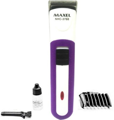 Maxel Rechargeable NHC-3788 Trimmer For Men (Purple)