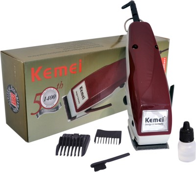 Kemei 1400 Professional Heavy Duty-1400 Trimmer For Men (Red)