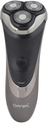Gemei Rechargeable GM-6200 Shaver For Men (Grey and Black)