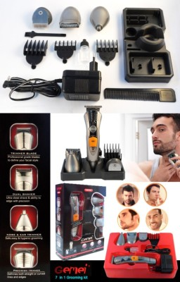 Gemei Rechargeable Hair 580 Clipper For Men (Multicolor)