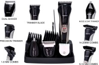 Kemei All In One Head To Toe 7 In 1 Multi Grooming Kit KM-590A Trimmer For Men (Black, Silver)