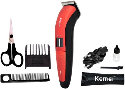 kemei Professional km-3118 Trimmer For Men (red, black)