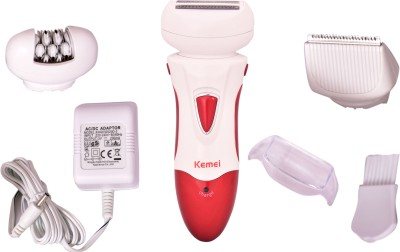 Kemei hair remover 3 in 1 KM-2368 Epilator For Women (Multicolour)
