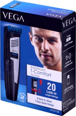 Vega Advance T- Comfort VHTH-08 Trimmer For Men (Black, Blue)