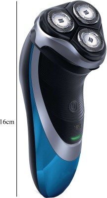 SJ Wet Dry Cordless Rechargeable With Trimmer SS-60215 Shaver For Men (Multicolor)