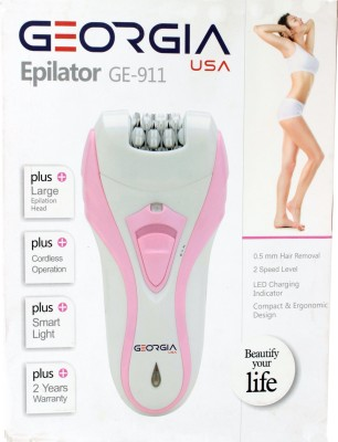 GeorgiaUSA Female Body Grooming GE_911 Epilator For Women (Pink)