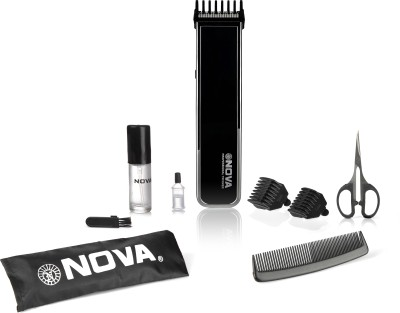 Nova Advanced Skin Friendly Precision NHT 1055 BL Trimmer For Men (Black)