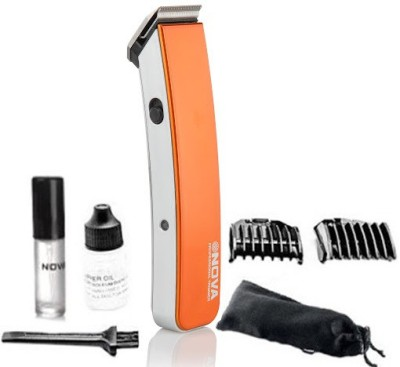 Nova Cordless NHT 1045 O Trimmer For Men (Orange)
