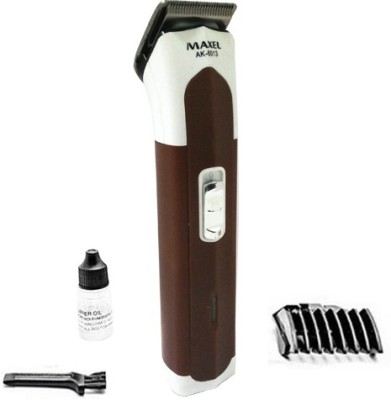 Maxel Rechargeable AK-6013 Trimmer For Men, Women (Brown)