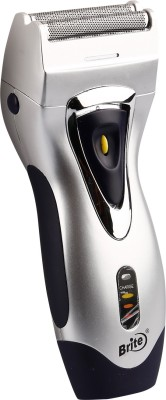 Brite Professional Barber Suit BS-550 Shaver For Men, Women (Silver, Blue)