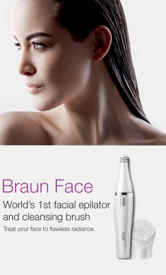 Braun Face 820 Epilator & Facial Cleanser For Women (White)