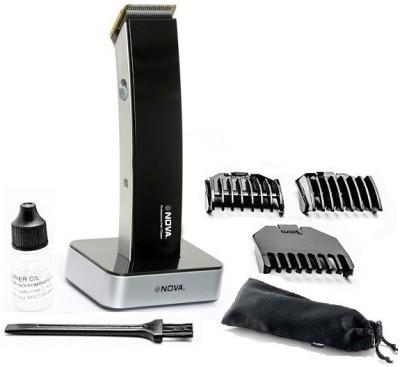 nova smart cordless nht 1075 trimmer for men titanium coated docking charger ebay. Black Bedroom Furniture Sets. Home Design Ideas