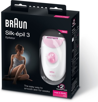 Braun Silk-epil Series 3 3270 Epilator for Women (Pink and White)