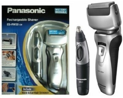 Panasonic Rechargeable ES-RW30CM Shaver For Men (Silver)