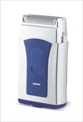 Wama Mens Battery Operated WMMS02 Shaver For Men (Blue)