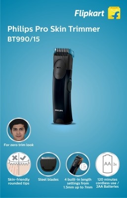 Philips BT990/15 Trimmer For Men (Black)