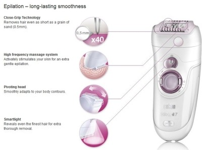 Braun Silk-epil Series 7 7951 Skin Spa Epilator for Women