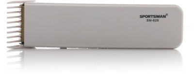Sportsman Professional Hair Clipper SM-626W Trimmer For Men (White)