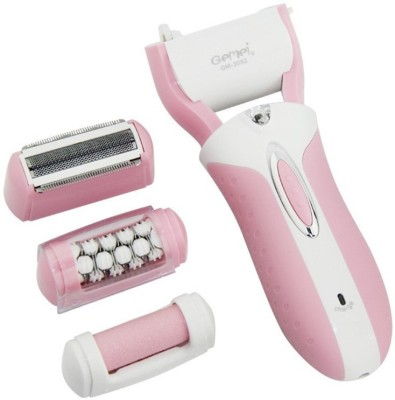 Gemei Rechargeable 3 in 1 Multi-Functional Body Groomer GM-3052 Epilator For Women (Pink)