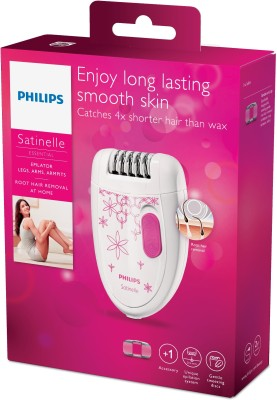 Philips Satinelle Essential BRE200/00 Epilator For Women (Pink, White)