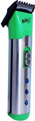Brite Chargeable BHT-530 Trimmer For Men (Green)