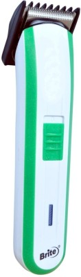 Brite 590 Rechargeable Trimmer For Men (White & Green)
