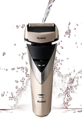 Kemei 3 Blades Waterproof KM-8102 Shaver For Men (Golden)