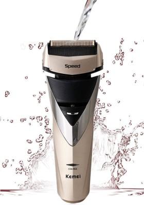 Kemei 3 Blades Waterproof KM-8102 Shaver For Men (Golden)
