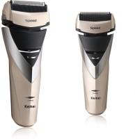 Kemei 3 Blades Waterproof KM-8102 Shaver, Trimmer For Men (Golden)