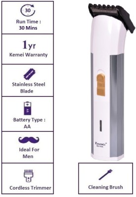 Kemei Professional KM-702B Trimmer For Men (Silver)