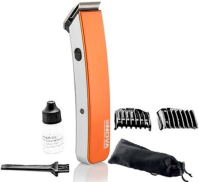 Nova Cordless 2 In 1 Advanced NHT 1045/00 O Trimmer For Men (Orange)