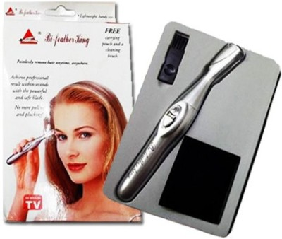 Shree Ji Enterprises BI-Feather King KING123 Ear, Nose & Eyebrow trimmer For Women (SILVER)