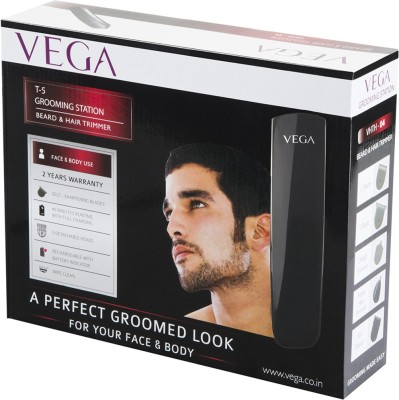 Vega T-5 Grooming Station VHTH-04 Trimmer For Men (Black)