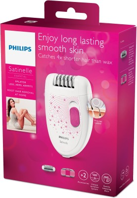 Philips Epilator BRE201/00 Shaver For Women (White/Pink)
