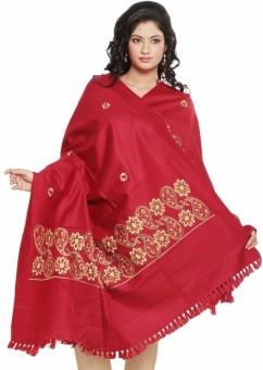 Little India Paisley Design Kashmiri Shawl 201 Wool Self Design Women's Shawl