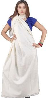 Little India Pure Kashmiri Warm Shawl 134 Wool Self Design Women's Shawl