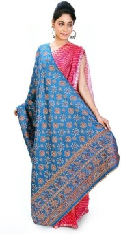 Home India Reversible Floral Design Kashmiri Cashmilon Shawl 172 Wool Self Design Women's Shawl