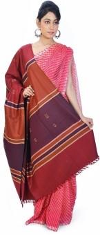 Home India Stripes N Booti Design Warm Maroon Cashmilon Shawl 156 Wool Self Design Women's Shawl