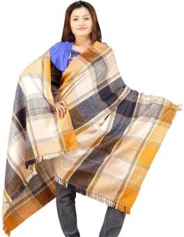 Little India Vintage Design Stylish Pure Kashmiri Woolen Shawl 131 Wool Self Design Women's Shawl
