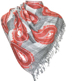 Elabore Boiled Wool Jamawar Shawl Wool Woven Women's Shawl - SWLE962XEHZ5ZEDG