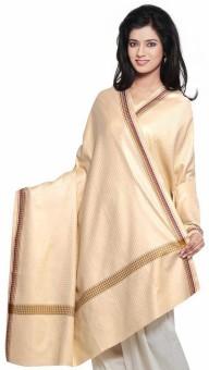Indigocart Diamond Designs Reversible Casmilon Shawl 148 Wool Self Design Women's Shawl