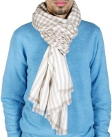KC Pashmina Fine Wool Checkered Men's Shawl